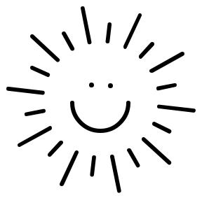 288x293 Sun Clipart Black And White