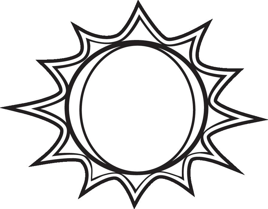 896x700 Sun Black And White Black And White Sun Clipart Free Download Clip