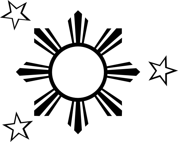 Half Sun Clipart Black And White