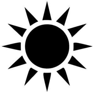 300x294 Sun black and white half sun clipart black and white free images