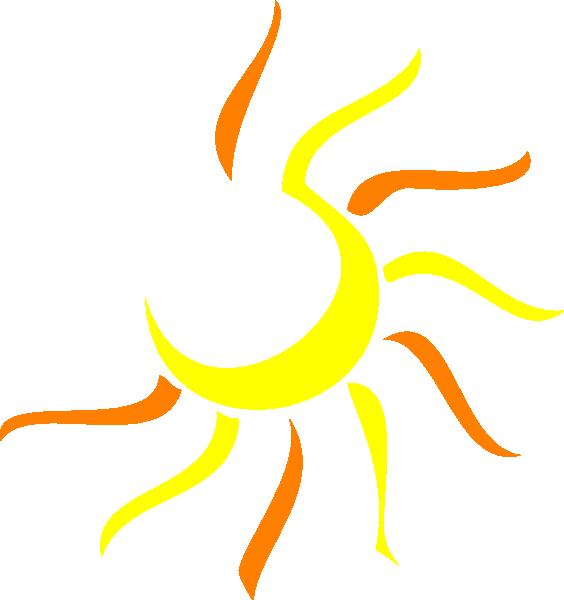 564x600 Sunshine Half Sun Clipart 5