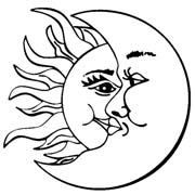180x180 Moon And Sun Clipart Black And White