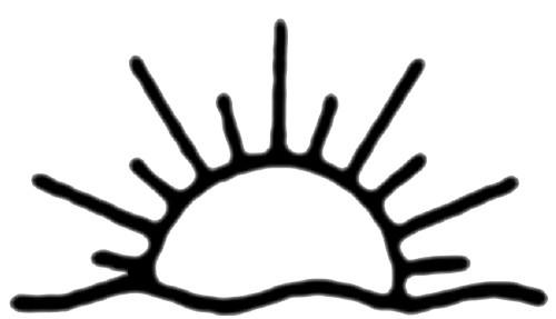 500x287 Half Sun Clipart Black White, Free Half Sun Clipart Black