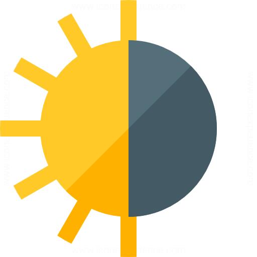 512x512 Iconexperience G Collection Sun Half Icon