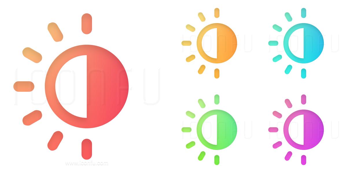 1200x600 Sun Half Icon