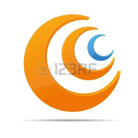 450x450 3d Abstraction Corporate Ring Half Circular Rss Logo Design Ico