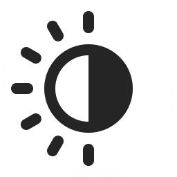 256x256 Sun Half Icon Iconexperience