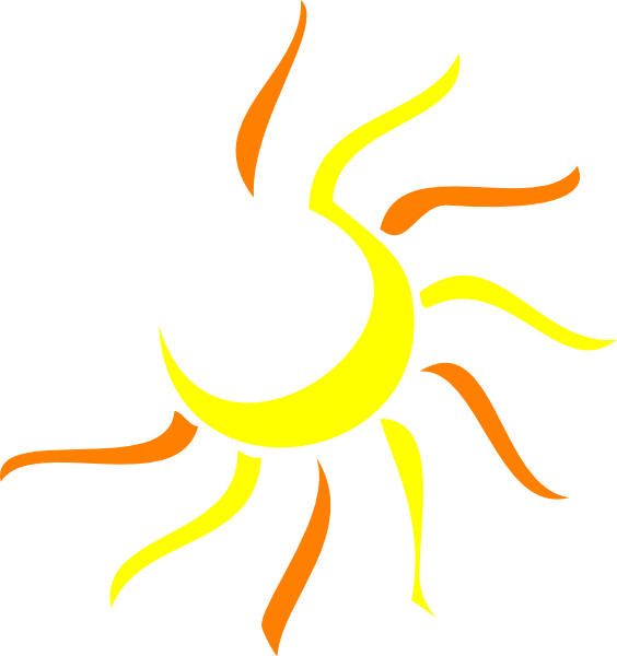 564x600 Sunrise Clipart Half Sun