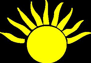 298x207 Sunshine Clipart Half Sun