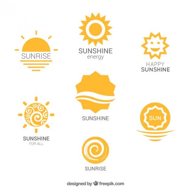 626x626 Variety Of Sun Logos Vector Free Download