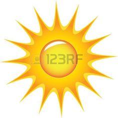 236x236 Half Sun Over Water Clipart