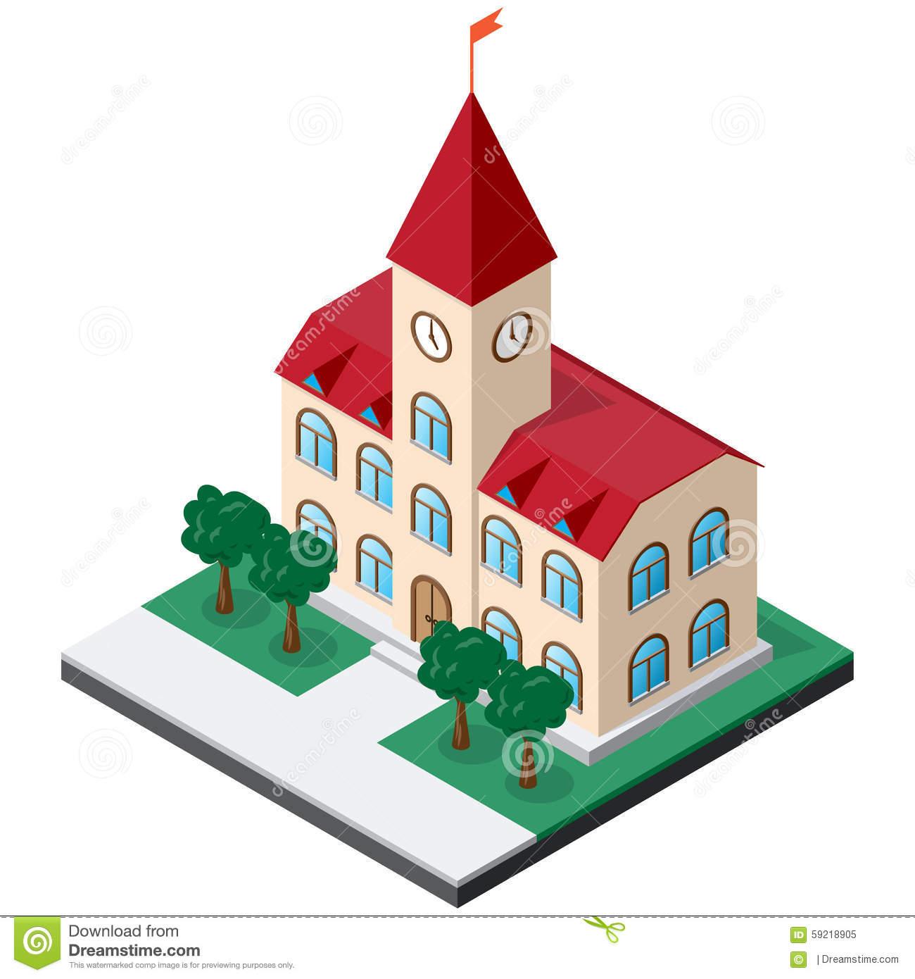 1300x1390 Town Clipart Municipal Hall