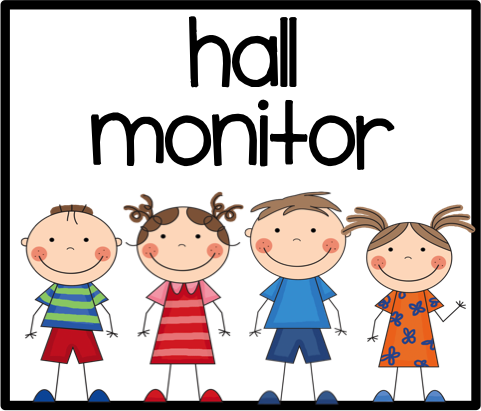 481x411 Hall monitor clip art This Person Passes Out All Papers