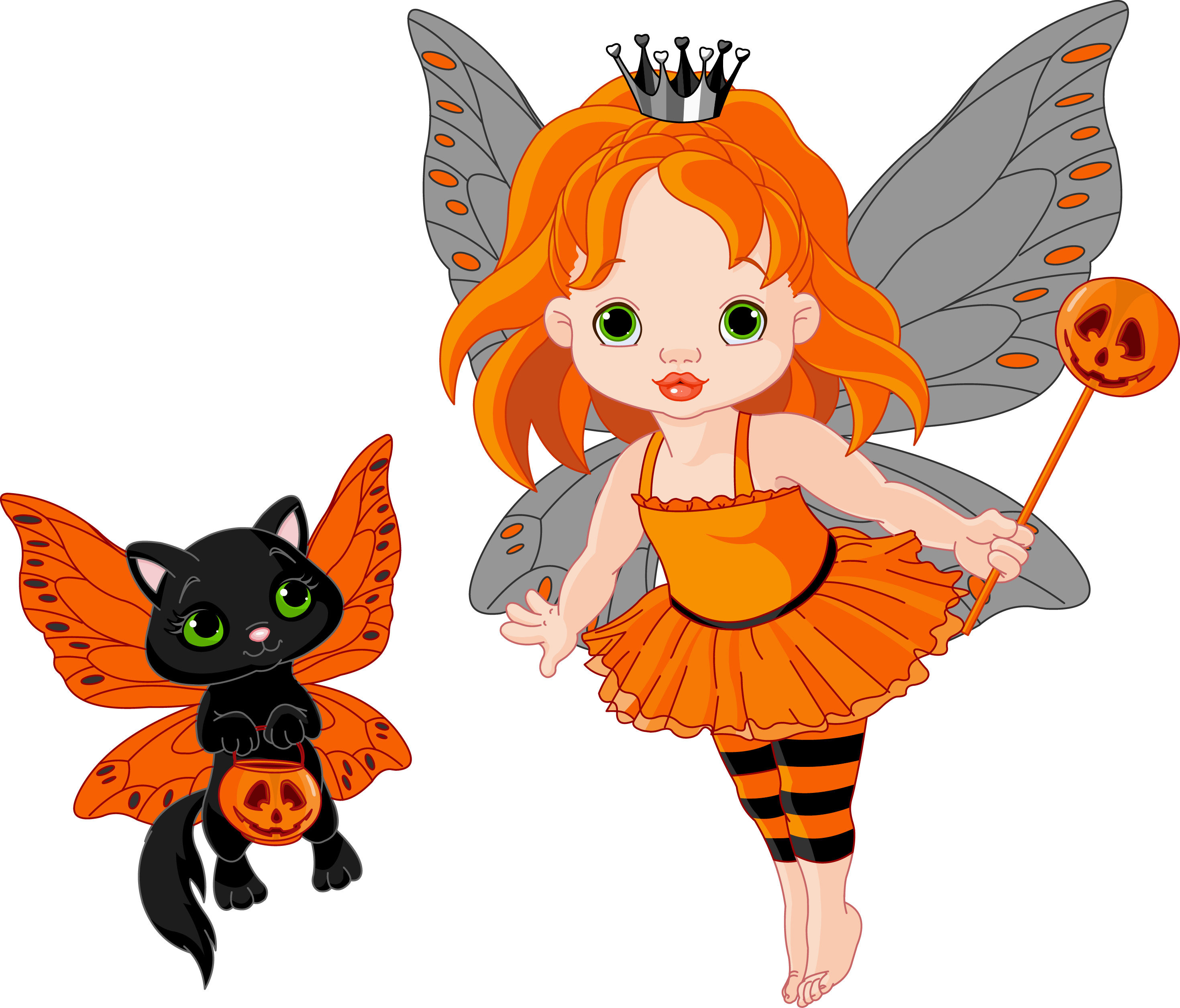 2939x2512 Transparent Halloween Fairy And Cat 0 Cliparts