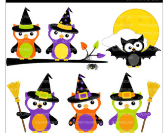 340x270 Cute Halloween Owl Clip Art