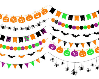 340x270 Bunting Banners Clipart Colorful Bunting Banners