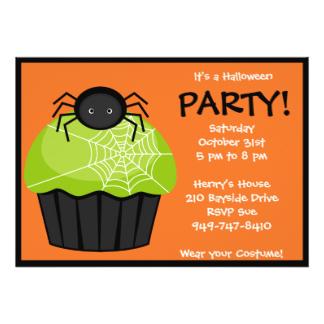 324x324 Halloween Cupcake Invitations Amp Announcements Zazzle