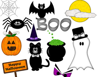 340x270 Halloween Items Clipart