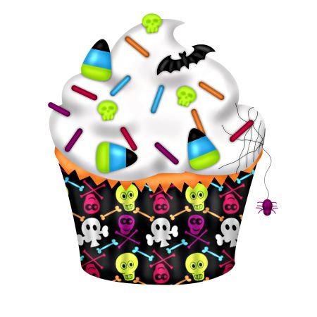 450x450 Vampire Clipart Halloween Cupcake