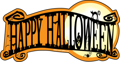 graphic regarding Happy Halloween Banner Printable named Halloween Banner Clipart Cost-free down load least complicated Halloween