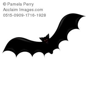 300x300 Art Illustration Of A Cartoon Vampire Bat