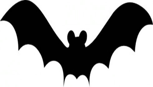 490x280 Bat Black And White Halloween Bat Clipart Black And White Coloring