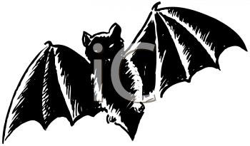 350x205 Royalty Free Bat Clip Art, Halloween Clipart