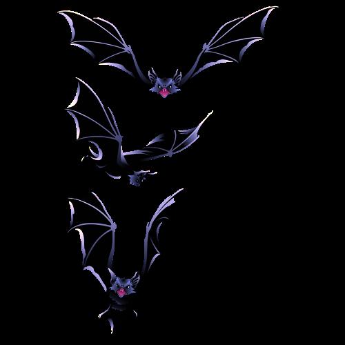 500x500 Halloween Bats