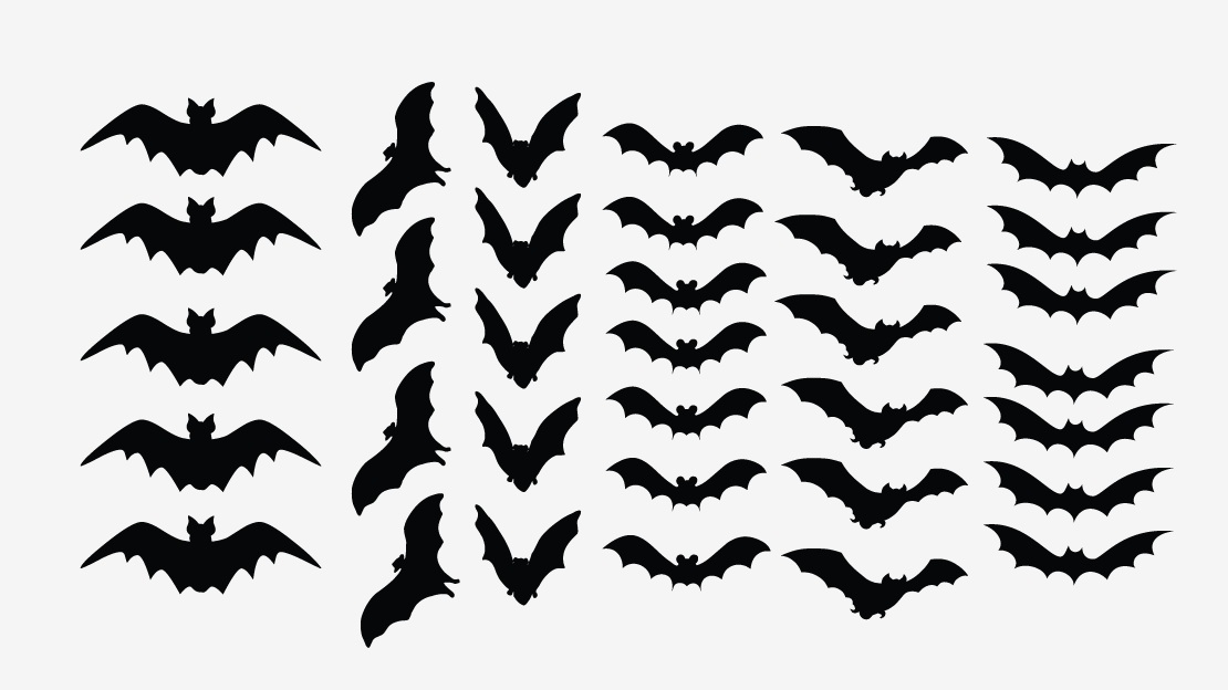 1110x624 Scary Bats Decal Set Of 34