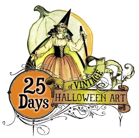 450x448 Beautiful Art Deco Era Vintage Halloween Costume Illustrations