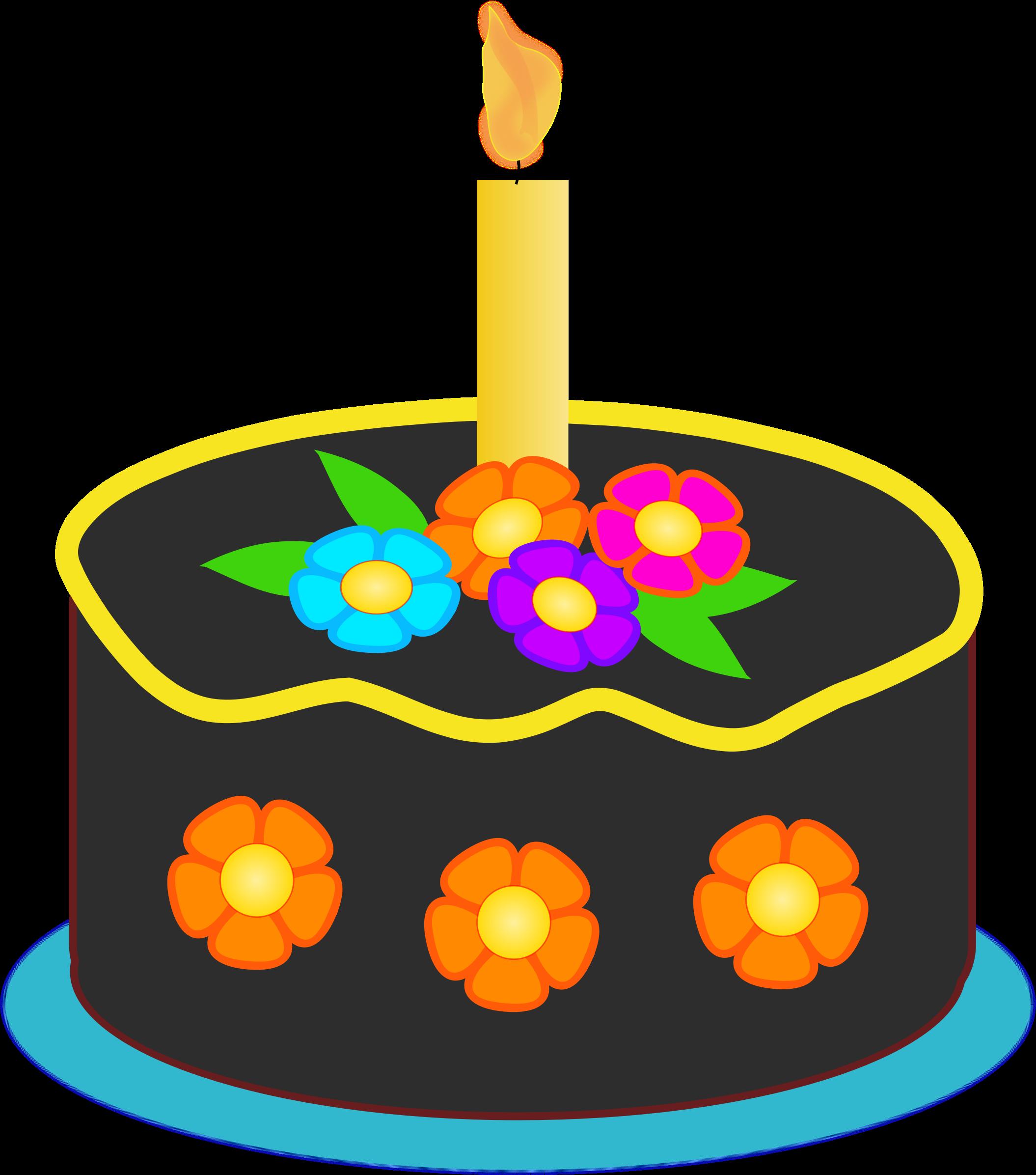 2110x2392 Chocolate Birthday Cake Clipart