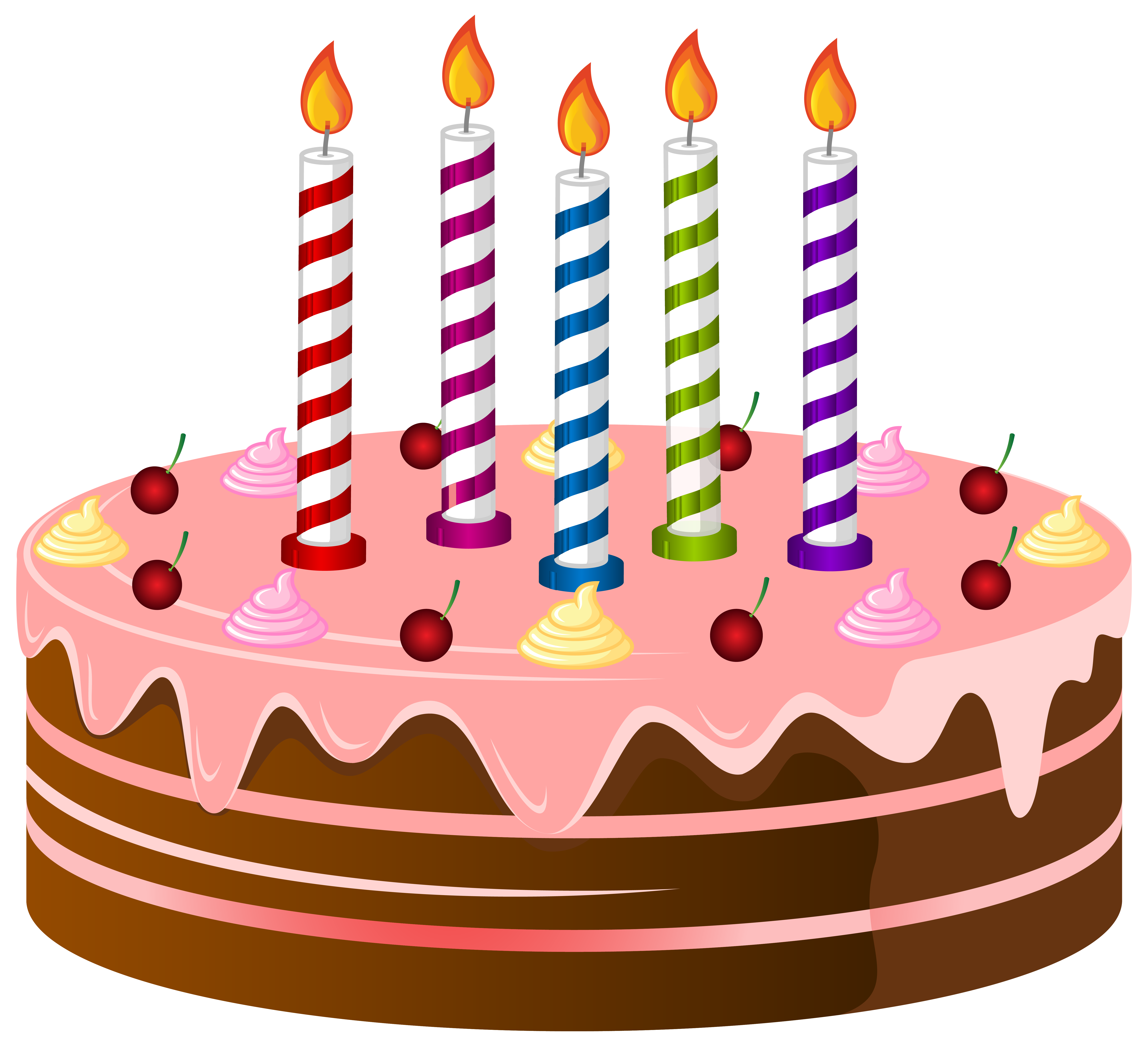 6315x5754 Halloween Birthday Cake Clipart
