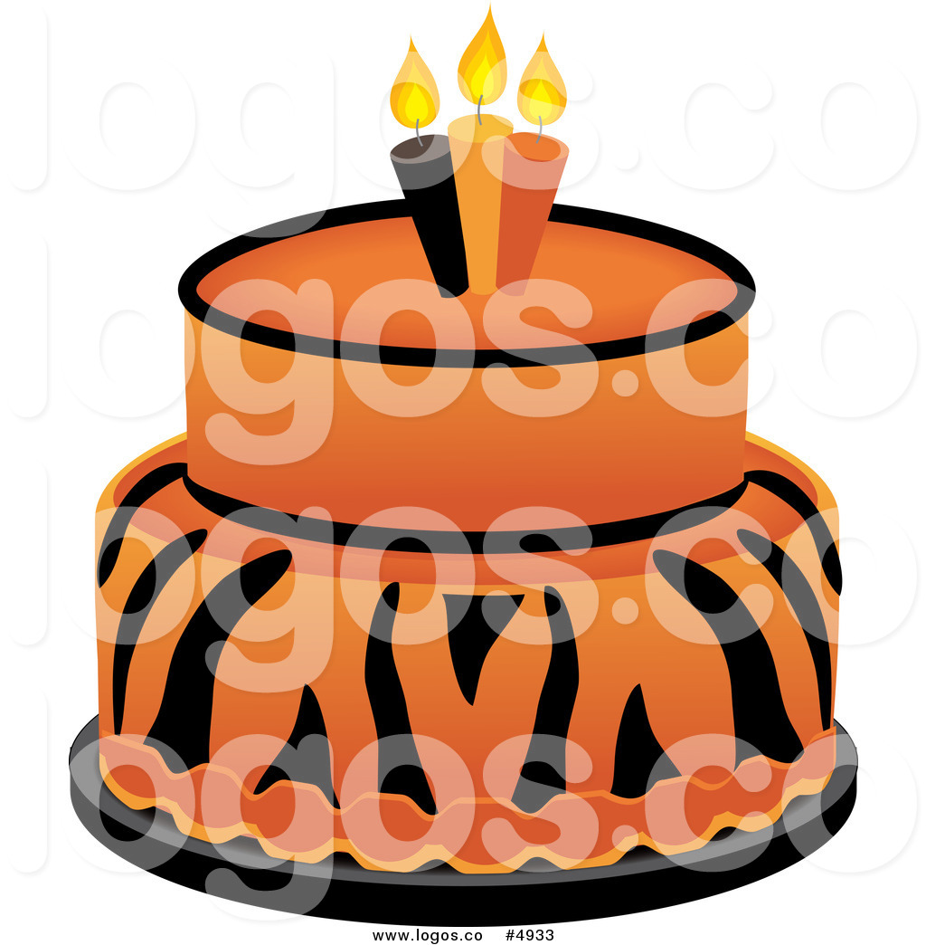 1024x1044 Royalty Free Vector Of A Tiger Cake Logo By Pams Clipart