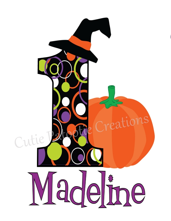Halloween Birthday Cliparts
