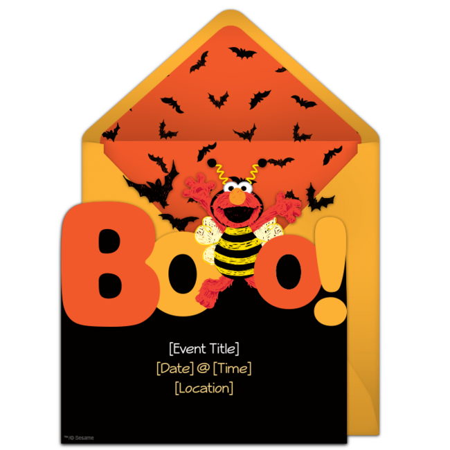 650x650 Free Elmo Boo! Invitations Elmo, Halloween Parties And Halloween