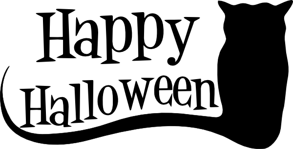 600x307 Happy Halloween Silhouette Clip Art