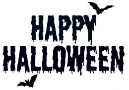 260x181 Black And White Halloween Clipart