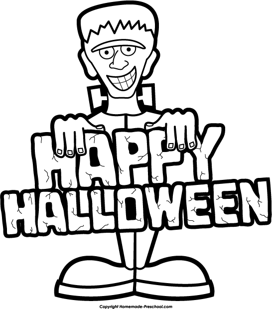 546x620 Free Halloween Clipart Black And White 2017
