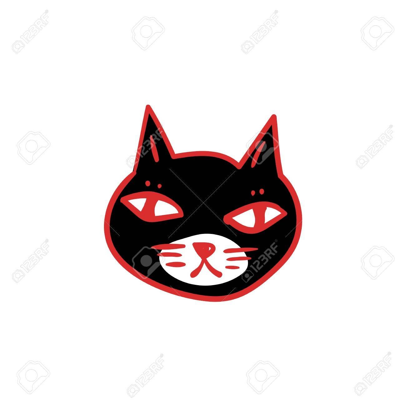 1300x1300 Black Cat With Red Eyes, Witches And Witchcraft Symbol. Halloween