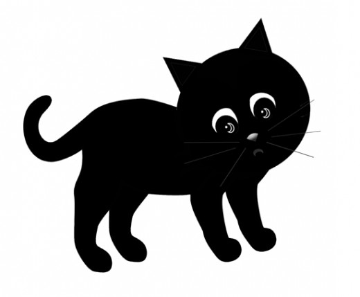 520x429 Cute Halloween Black Cat Clipart
