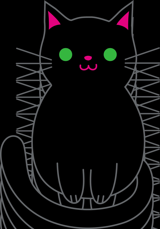 3526x5039 Halloween Black Cat Cartoon