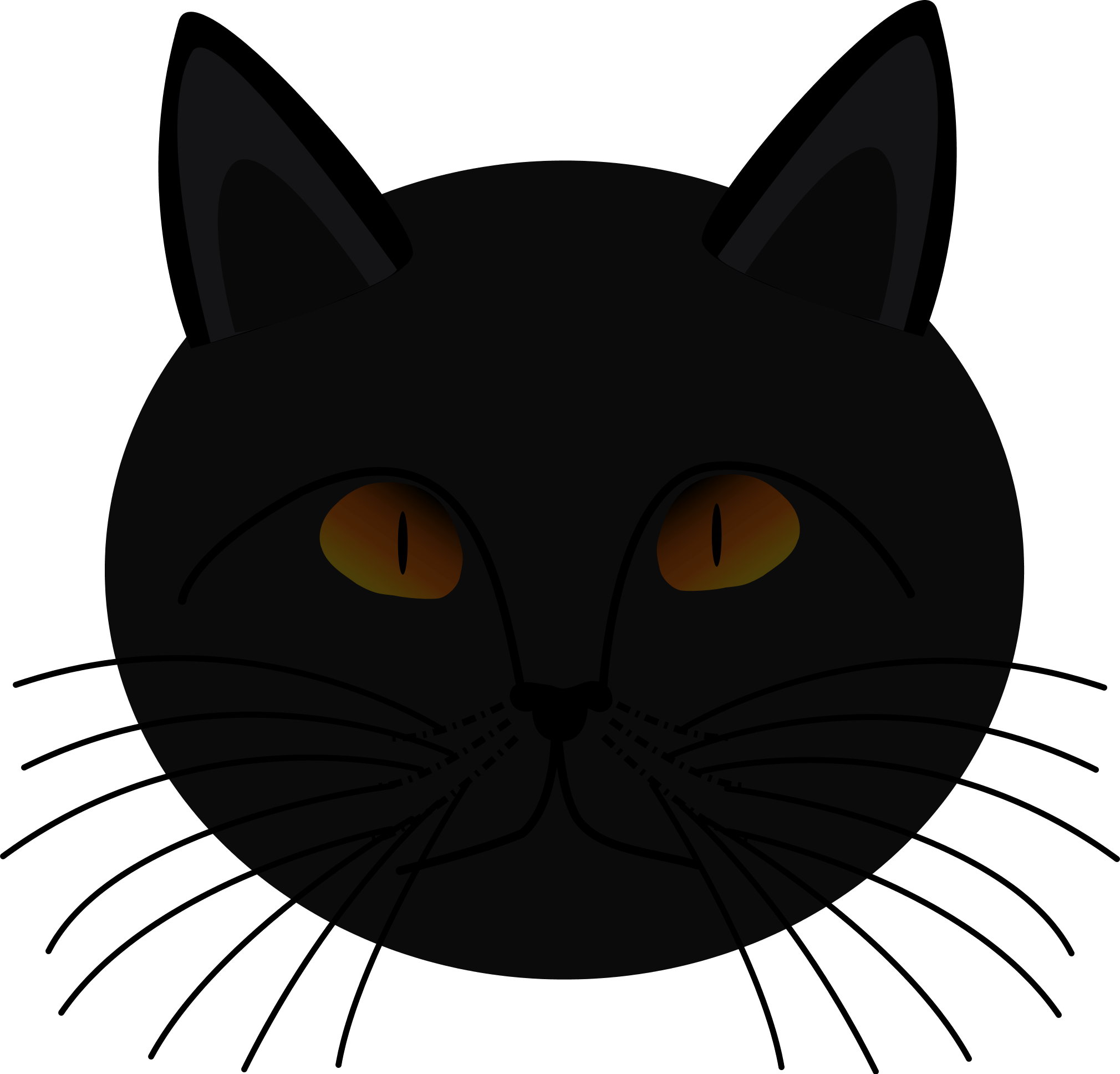 2020x1936 Halloween Cat Clipart
