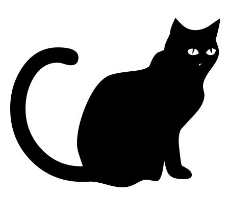 449x387 Black Cat Sitting 2