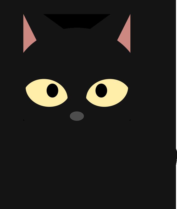 676x800 Black Cat Clipart Cute