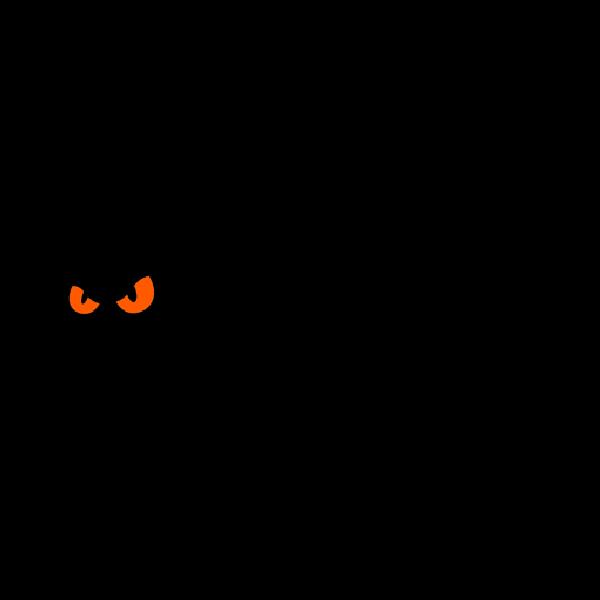 600x600 Black Halloween Black Cat