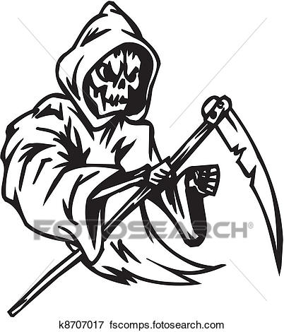 402x470 Clip Art Of Grim Reaper