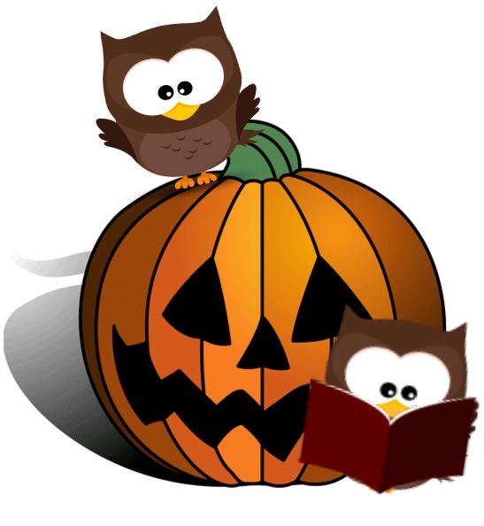 547x594 Halloween Reading Clipart