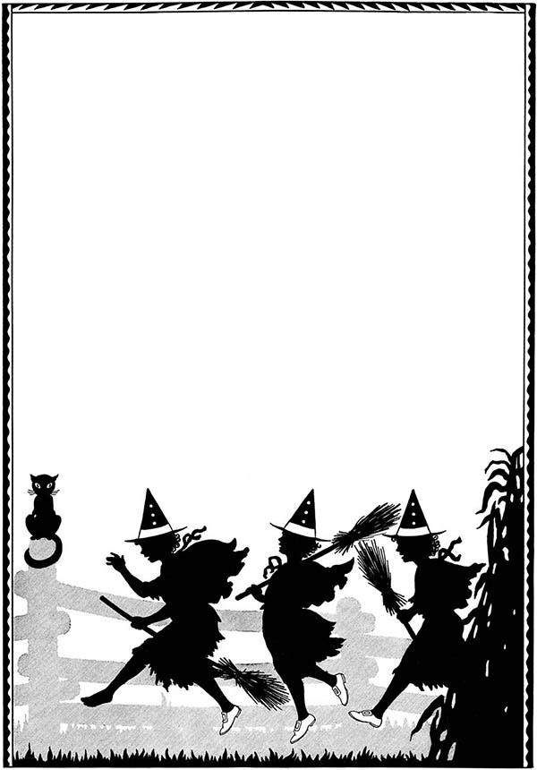 600x860 Halloween Page Border