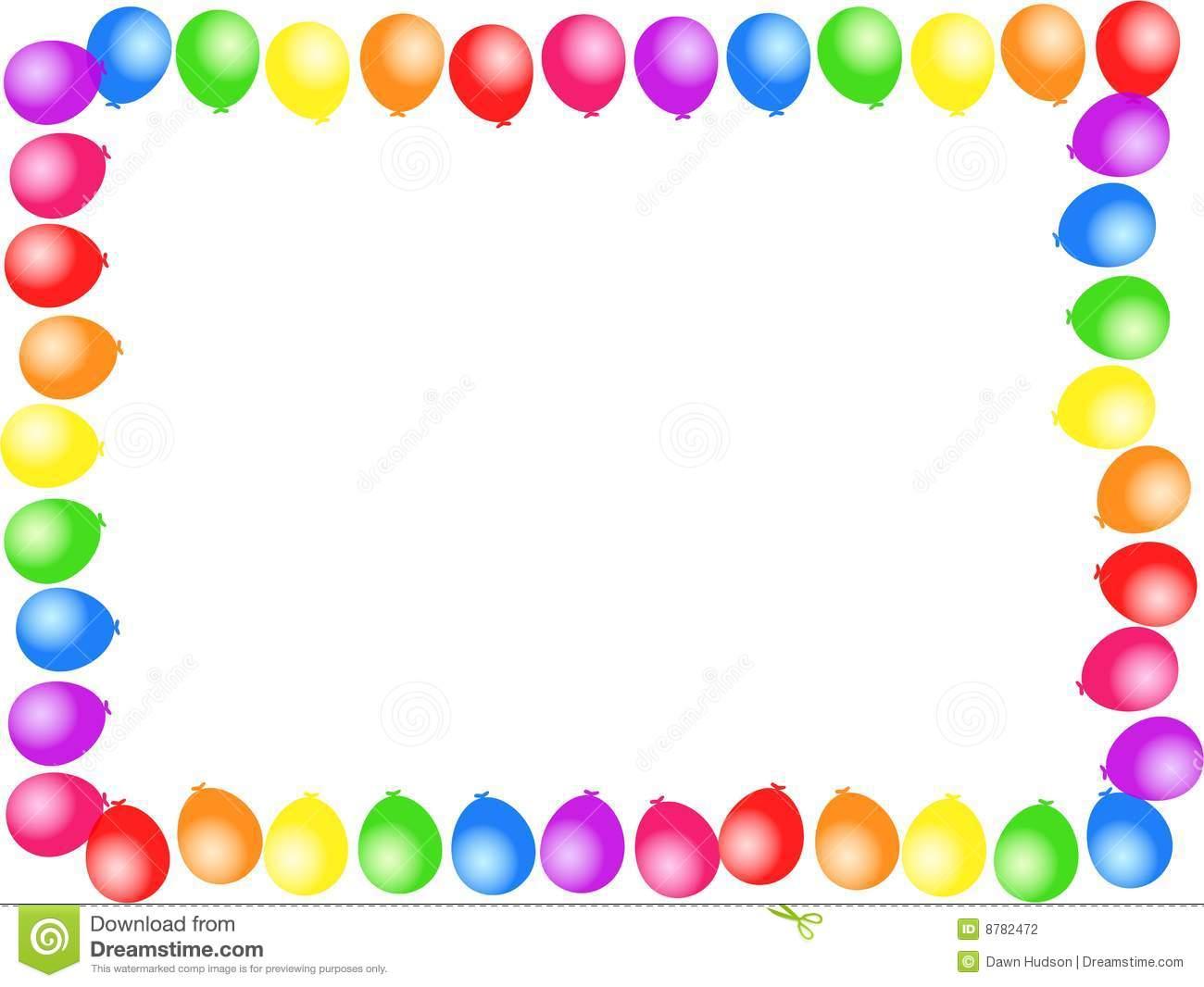 1300x1066 Balloon Borders Clipart