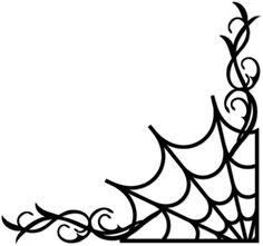 236x221 Spider Web Border Borders, Clip Art, Fonts Amp More